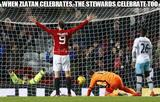 Zlatan and stewards celebrate memes