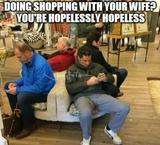 Doing shopping with your wife memes
