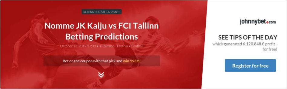 Nomme JK Kalju vs FCI Tallinn Betting Predictions