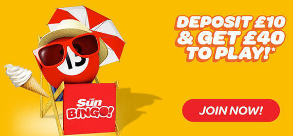 The Sun Bingo bonuses for bingo