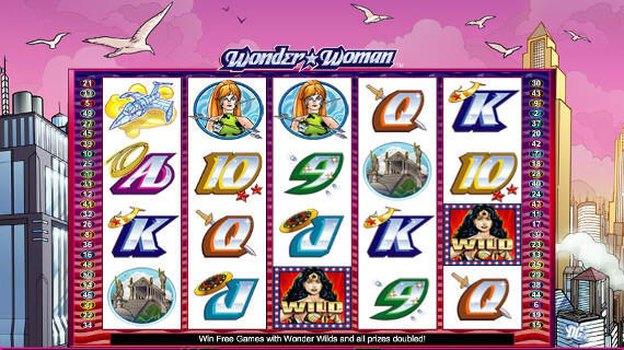 Play Wonder Woman slot machine online