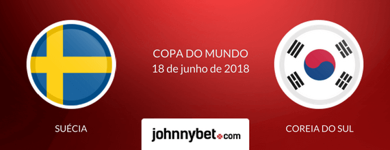 Suécia vs Coreia do Sul 2018 odds