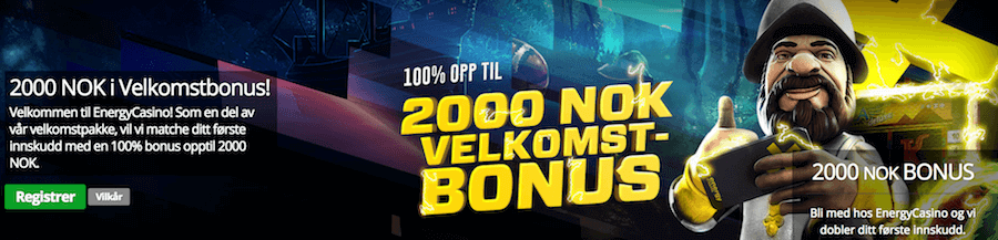 Energy Casino 2000 NOK Bonus